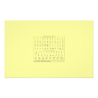 Braille Alphabet Stationary Stationery Paper
