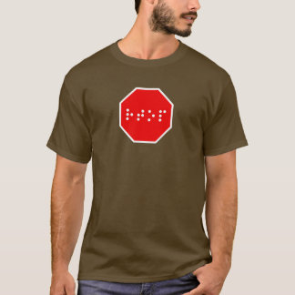 Braille Stop Sign T-Shirt
