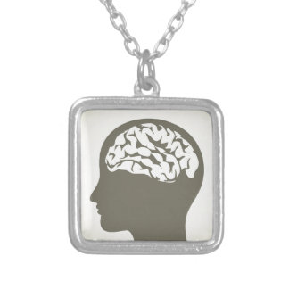 Brain5 Silver Plated Necklace