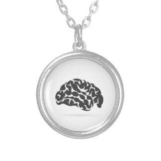 Brain6 Silver Plated Necklace
