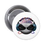 Brain 6 Cm Round Badge
