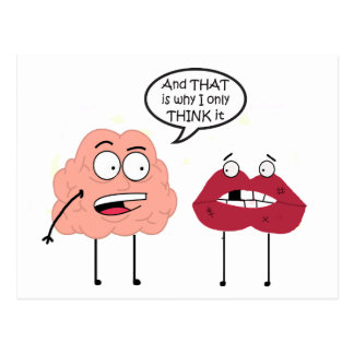 Brain and Mouth Postcard