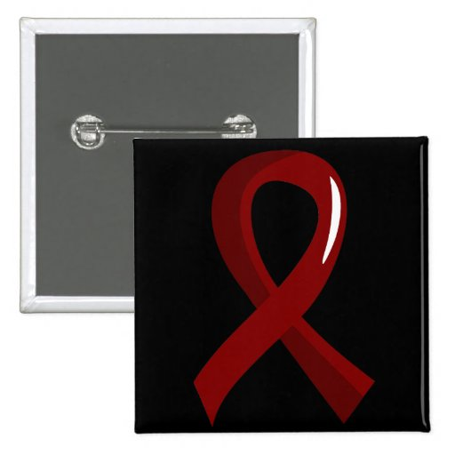 Brain Aneurysm Burgundy Ribbon 3 Pinback Buttons