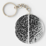 Brain Basic Round Button Key Ring