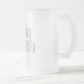Brain Bleach frosted glass mug
