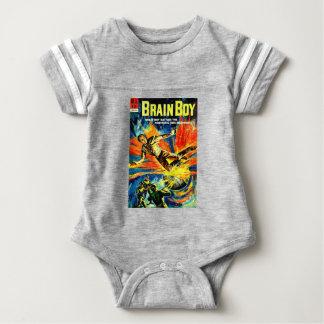 Brain Boy and the Time Machine Baby Bodysuit