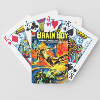 Brain Boy and the Time Machine Bicycle Playing Cards