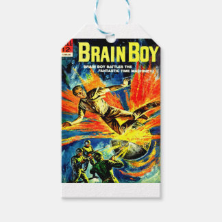 Brain Boy and the Time Machine Gift Tags