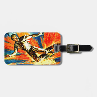 Brain Boy and the Time Machine Luggage Tag