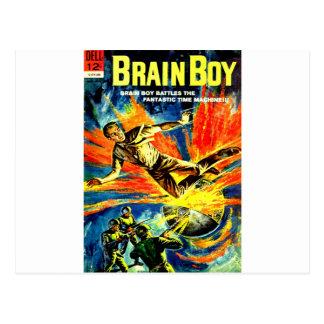 Brain Boy and the Time Machine Postcard