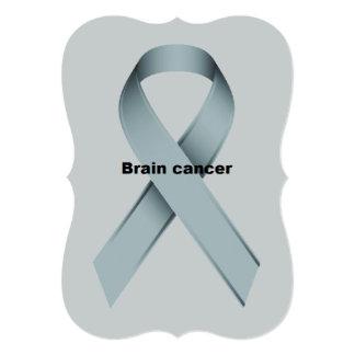 Brain cancer 13 cm x 18 cm invitation card