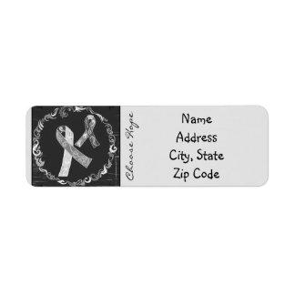 Brain Cancer Awareness Return Address Label