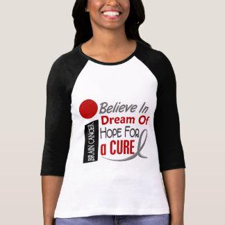 Brain Cancer BELIEVE DREAM HOPE T-Shirt