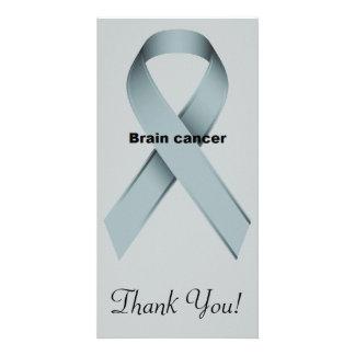 Brain cancer customised photo card