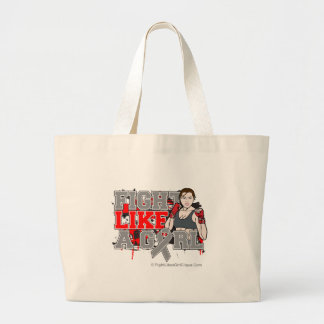 Brain Cancer Fighter - Fights Like a Girl Jumbo Tote Bag