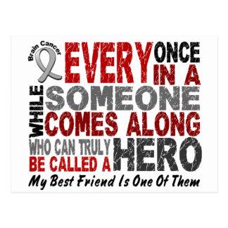 Brain Cancer HERO Best Friend Postcard