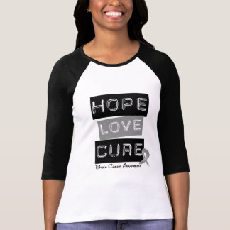 BRAIN CANCER HOPE LOVE CURE SHIRT