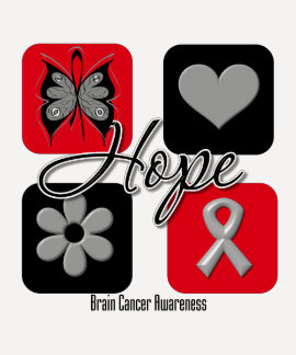 Brain Cancer Hope Love Inspire Awareness Tee Shirt