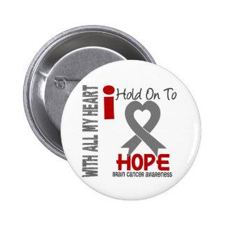 Brain Cancer I Hold On To Hope 6 Cm Round Badge