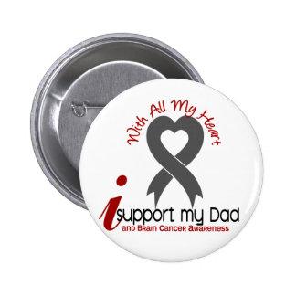 Brain Cancer I Support My Dad 6 Cm Round Badge
