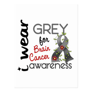 Brain Cancer I Wear Grey For Awareness 43 Postcard