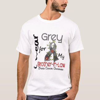 Brain Cancer I Wear Grey For My Brother-In-Law 43 T-Shirt