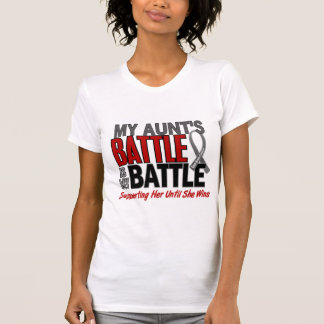 Brain Cancer MY BATTLE TOO 1 Aunt T-Shirt