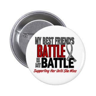 Brain Cancer MY BATTLE TOO 1 Best Friend (Female) 6 Cm Round Badge