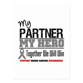 Brain Cancer My Partner My Hero Together We Will W Postcards