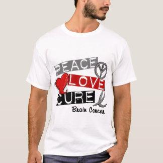 Brain Cancer PEACE LOVE CURE 1 T-Shirt