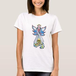 Brain Cancer Ribbon Angel T-Shirt