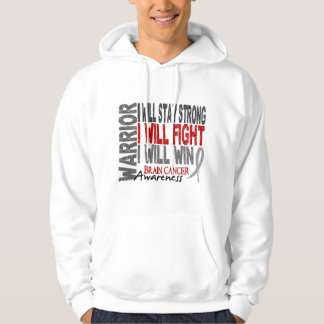 Brain Cancer Warrior Hoodies