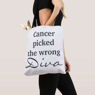 Brain Cancer Wrong Diva (two sided tote) Tote Bag