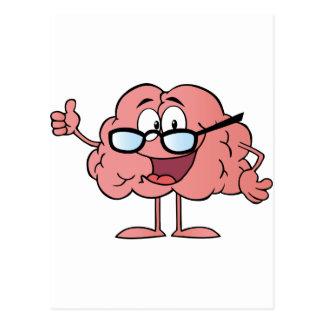 Brain Cartoon Character Giving The Thumbs Up Postcard
