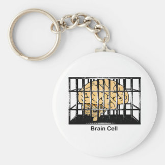 Brain Cell Basic Round Button Key Ring