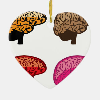Brain Ceramic Heart Decoration