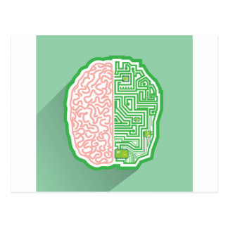 Brain Circuit vector Postcard