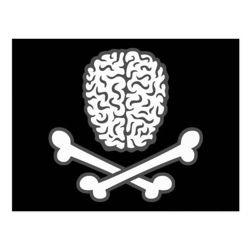 Brain & Crossbones Post Cards