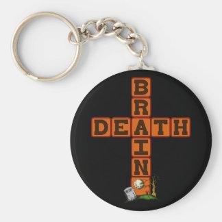 Brain Death Cross Key Ring