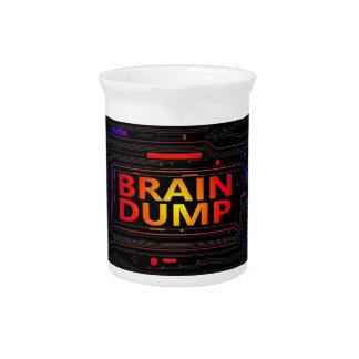 Brain dump concept. beverage pitcher