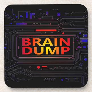 Brain dump concept. coaster