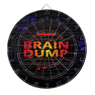 Brain dump concept. dartboard