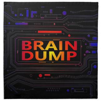 Brain dump concept. napkin