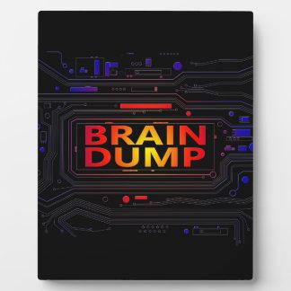 Brain dump concept. plaque