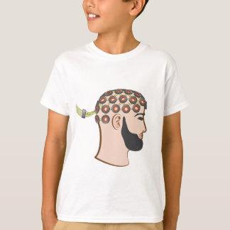 Brain EEG electrodes Bearded Man vector Shirts