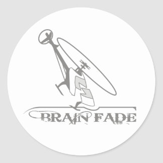 Brain Fade Classic Round Sticker