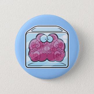 Brain Freeze Cartoon 6 Cm Round Badge
