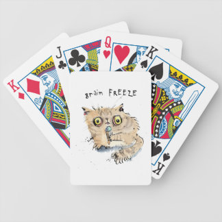 Brain freeze Kitten Bicycle Playing Cards