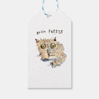 Brain freeze Kitten Gift Tags