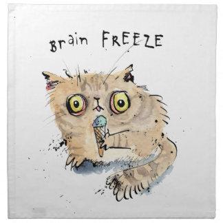Brain freeze Kitten Napkin